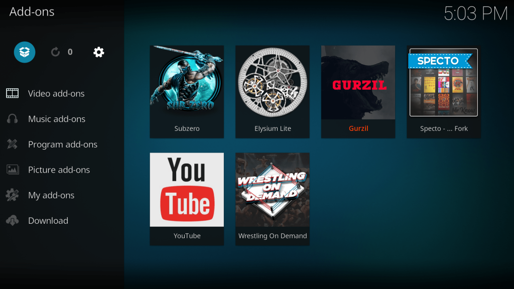 kodi package installer