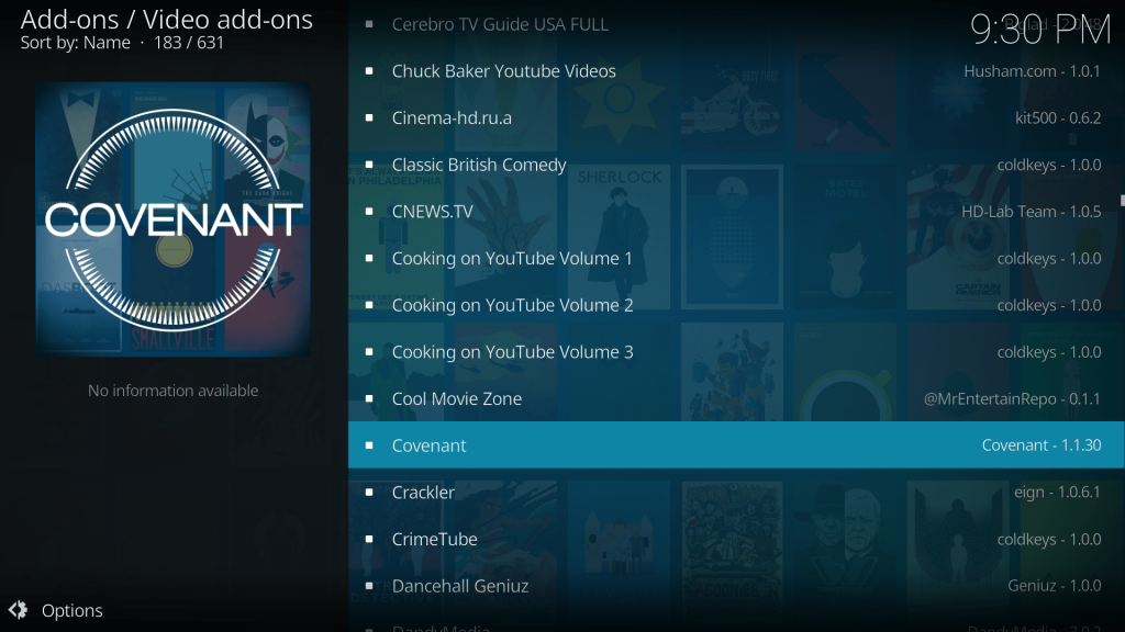Covenant Kodi Addon