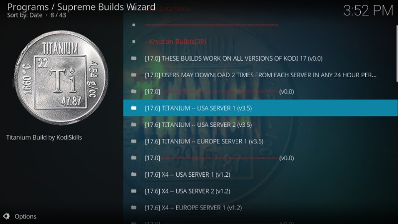 download titanium kodi build