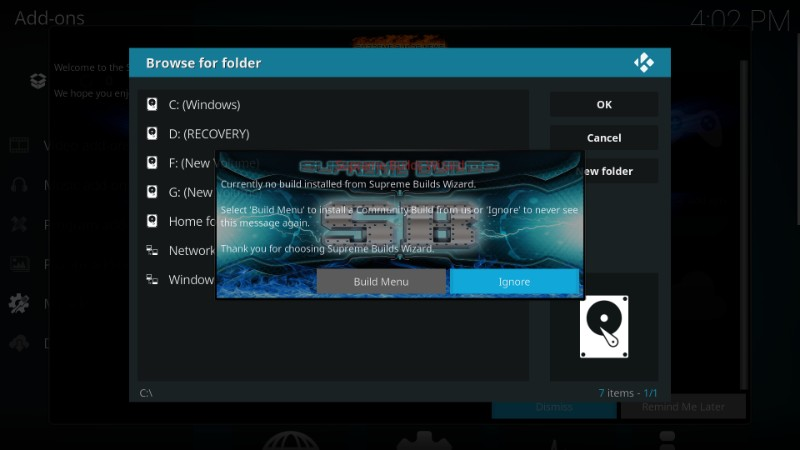 how to install titanium build on kodi