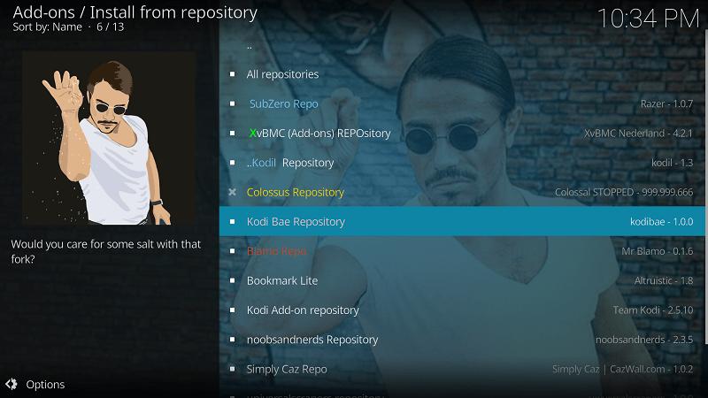 open kodi bae repository